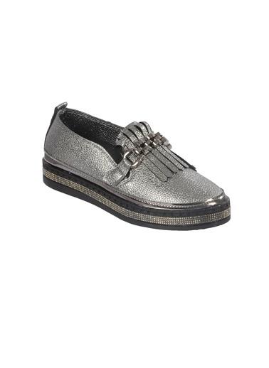 Mhd 2521 Platin Kadın Günlük Ayakkabı Gümüş